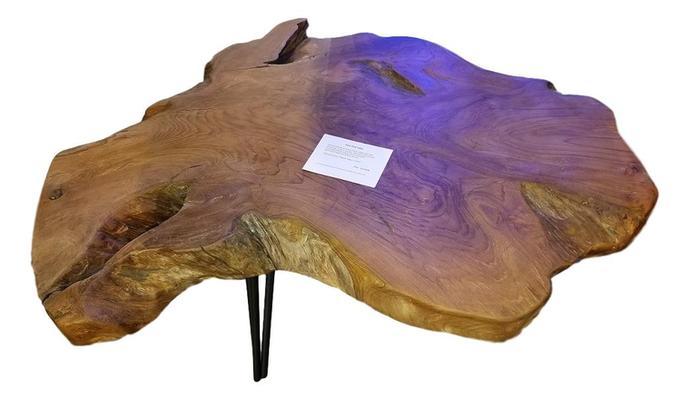 Large Natural Teak Slab Table Antique Shops Product By